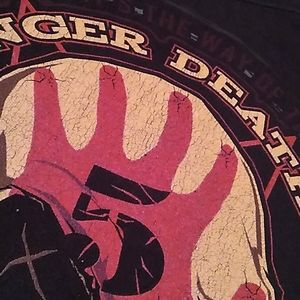 Hanes Shirts - Five finger death punch band tee cream/red